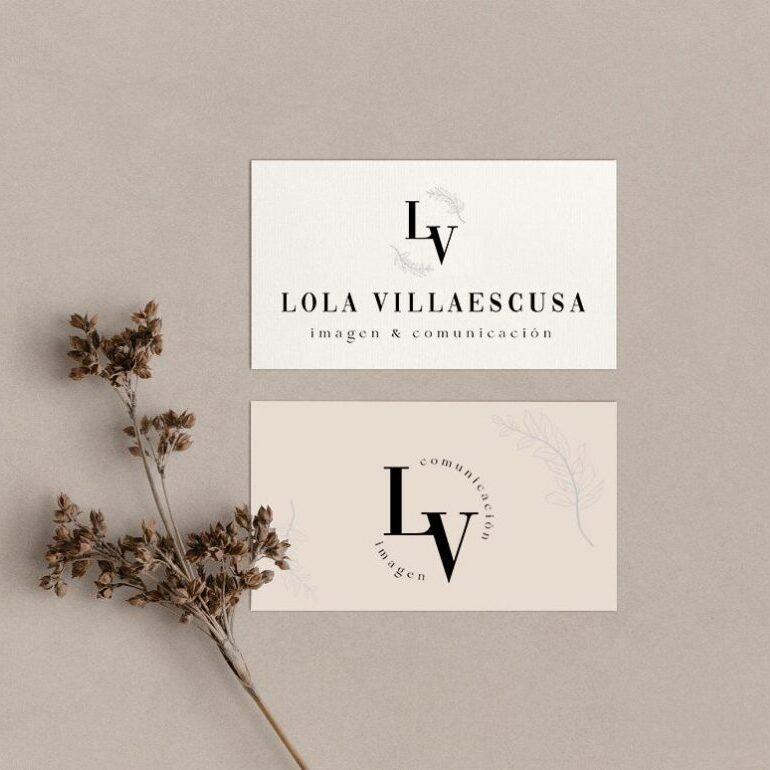 diseño logotipo para asesora de imagen, diseño branding para moda y belleza, branding para moda, diseño de logotipos, logotipo para moda, asesora de imagen, personal shopper, identidad visual, identidad corporativa, diseño tarjetas de visita, Lola Villaescusa, Lola Villaescusa logo