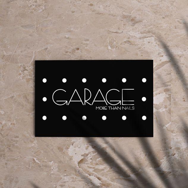 tarjeta de visita para centro de belleza, branding para centro de estética, centro de estética logotipo, identidad visual, identidad corporativa, nails garage,
