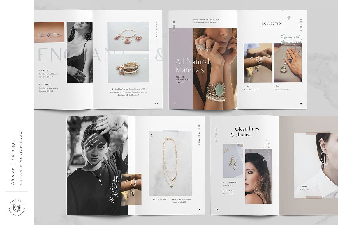 catálogo para joyería, catálogo moda, diseño editorial, lookbook,